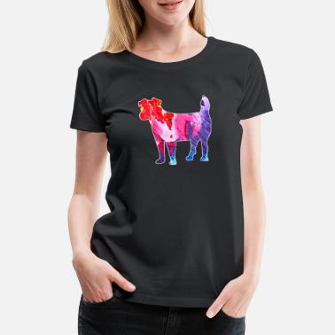 Jack Russel Jack Russell Terrier Colorful Gift - Naisten premium t-paita