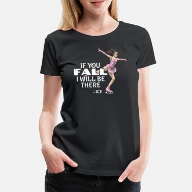 Dancing Couple Figure skating figure skater ice skates - Women's Premium T-Shirt