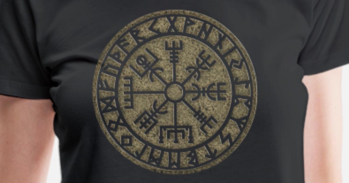 Runas Futhark Vikingo Vegvisir Símbolo Mágico De La Protección
