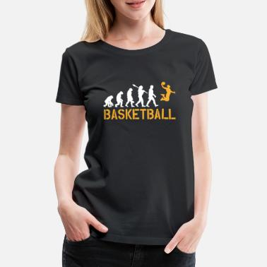 Basketball Evolution Basketball Evolution Dunking Geschenk Basketballer - Frauen Premium T-Shirt