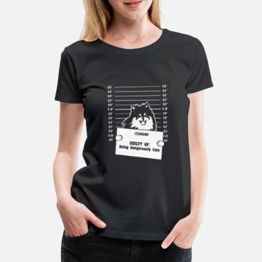 Photo Police photo Criminele foto Sweet Pomeranian - Vrouwen Premium T-shirt