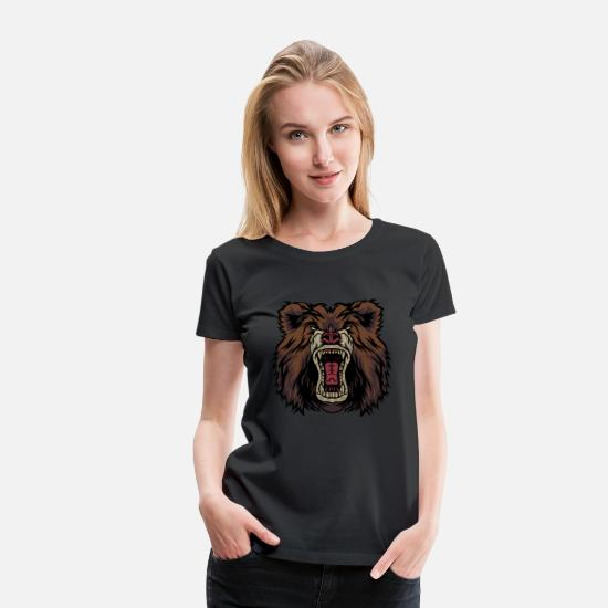 Polar T-Shirts - Bear Beast Teddy Endangered Species Animal Gift - Women's Premium T-Shirt black