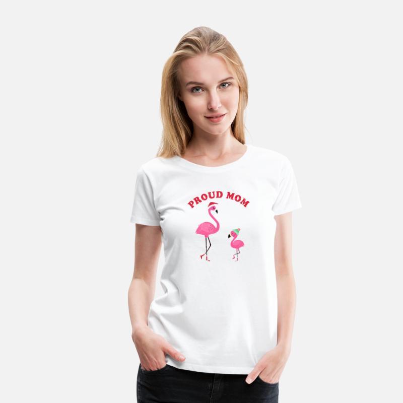 Flamingo mamma mamma baby barn Premium T shirt dam vit