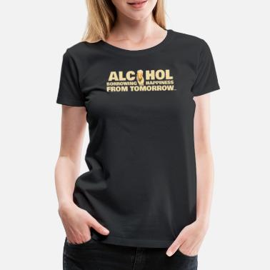 Hangover Alcohol lucky hangover beer drinking fun gift - Women's Premium T-Shirt