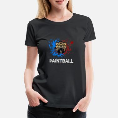 No Pain Paintball Bear Beast - Frauen Premium T-Shirt