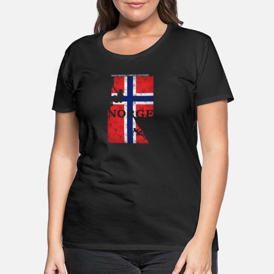 norwegen t shirt damen