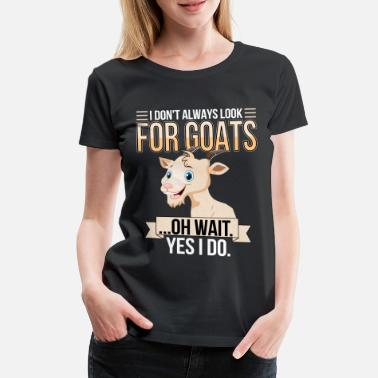 Bitch Goat on goat farm with billy goat goat - Women's Premium T-Shirt