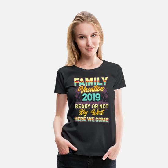 Group T-Shirts - Family holiday 2019 Key West fun - Women's Premium T-Shirt black