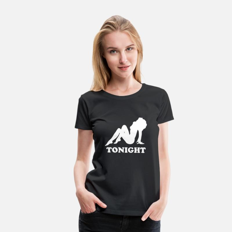 Silhouette T-Shirts - Naked Girl Silhouette - Women's Premium T-Shirt black