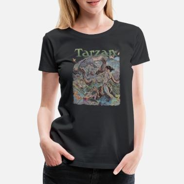 Tarzan and wild apes - Women's Premium T-Shirt