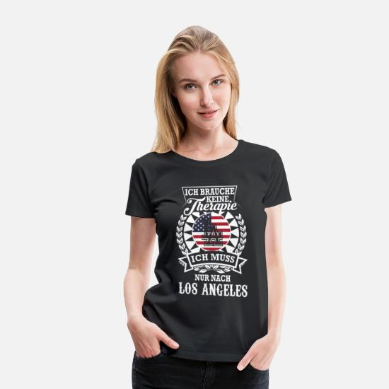 Los Angeles T-Shirts - LOS ANGELES - Frauen Premium T-Shirt Schwarz