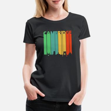 Cambridge Vintage Retro Cambridge. Skyline.Cityscape.England - Vrouwen premium T-shirt