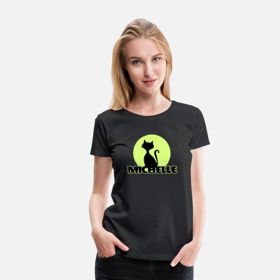 Michelle T-Shirts - Michelle Name First name - Women's Premium T-Shirt black