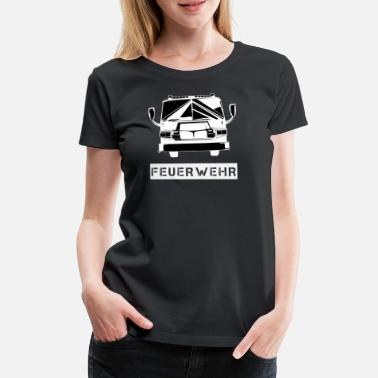 First Responders Fire department car - Women's Premium T-Shirt
