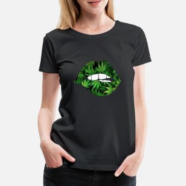 Green Peace lips - Women's Premium T-Shirt