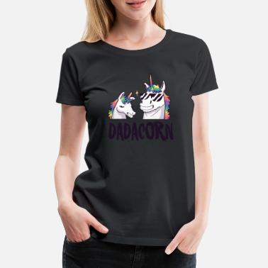 Daughter Unicorn father baby son daughter daddy gift - Women's Premium T-Shirt