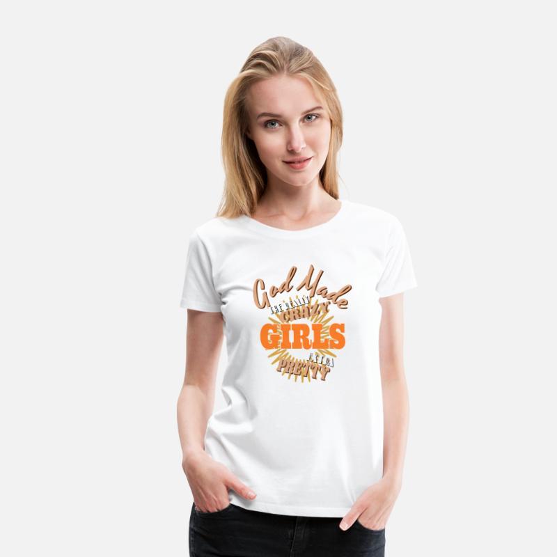 God made crazy girls pretty Women s Premium T-Shirt  70db50f76c