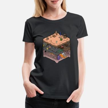 Isometric Isometric video game dungeon - Women's Premium T-Shirt