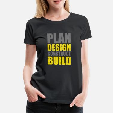 Renovate Architect construction worker home improvement renovation DIY - Women's Premium T-Shirt