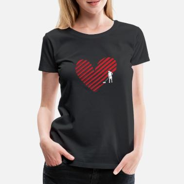 Painter Painter and painter heart crafting gift idea - Women's Premium T-Shirt