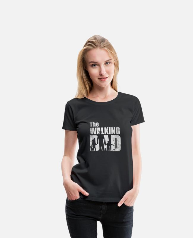 Father's Day T-Shirts - Father's Day The Walking Dad - Women's Premium T-Shirt black