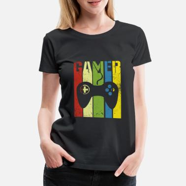 Game Gamer controller in colorful - Women's Premium T-Shirt