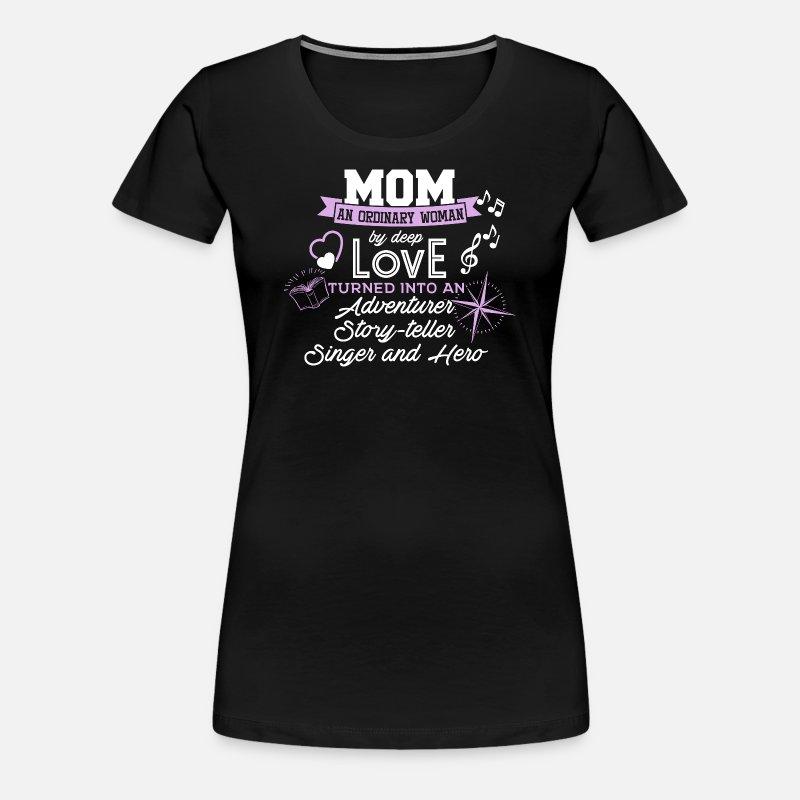 Mor en almindelig kvinde Dame premium T shirt marineblå meleret