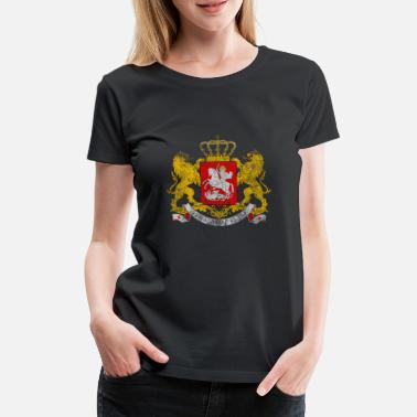Suit Of Armor Georgian Coat of Arms Georgia - Premium-T-shirt dam