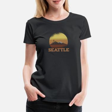 Hochhaus Skyline SEATTLE Retro Style - Frauen Premium T-Shirt