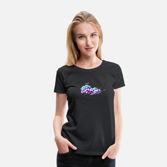 Core T-Shirts - Grapes Fruit 80s Retro Violet - Women's Premium T-Shirt black