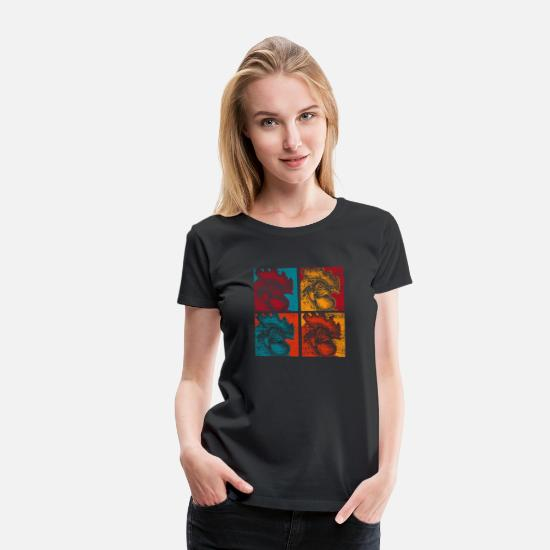 Gift Idea T-Shirts - Chicken farmer village - Women's Premium T-Shirt black