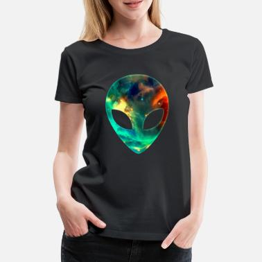 Outer Galaxy Alien Space Space Head Face Space - Women's Premium T-Shirt