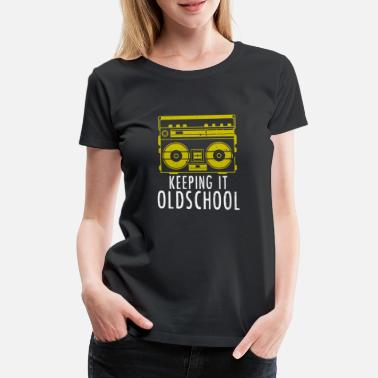 Old School Hip Hop Old School Boombox - Ghettoblaster Musik Hip Hop - Frauen Premium T-Shirt