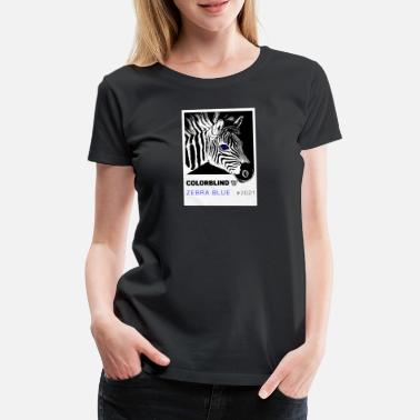 Quelle ZEBRA BLUE - white card by COLORBLIND WorldView - Camiseta premium mujer