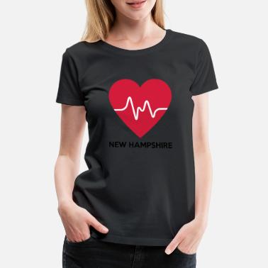 New Hampshire Heart New Hampshire - Naisten premium t-paita