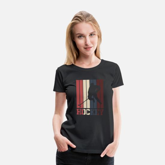 Gift Idea T-Shirts - Hockey stick hockey gift - Women's Premium T-Shirt black