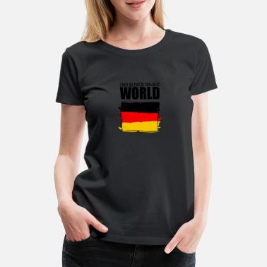 Part Of The World I am a big part of this great world, Germany - Women's Premium T-Shirt