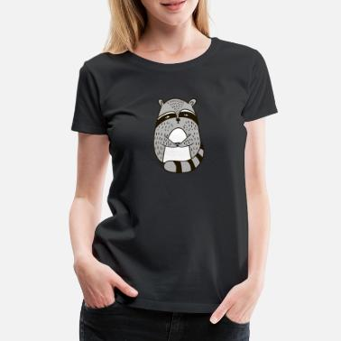 Illustration Sweet racoon Illustration Comic Gift - Frauen Premium T-Shirt