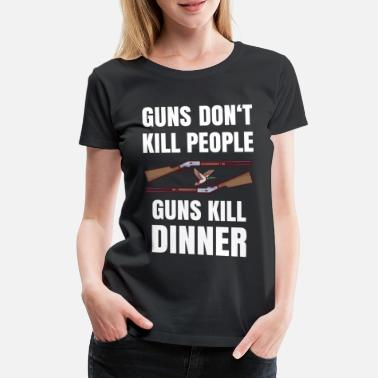 Abendbrot guns dont kill people guns kill dinner - Frauen Premium T-Shirt