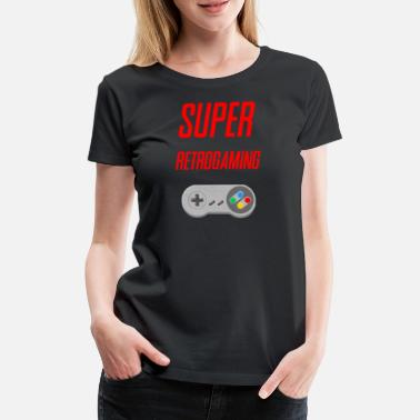 Retrogaming SUPER retrogaming - Premium T-skjorte for kvinner