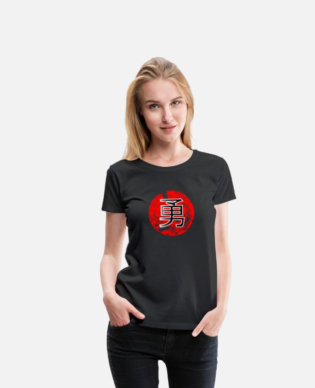 China T-Shirts - Courage - Women's Premium T-Shirt black