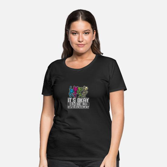 Skjelett Det er greit, vær litt annerledes Premium T skjorte