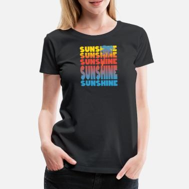 Last Minute Single Sunshine sun palm motive summer - Women's Premium T-Shirt