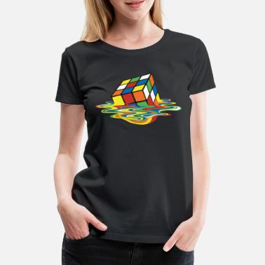 Rubik's Cube Melted Colourful Puddle - Vrouwen premium T-shirt