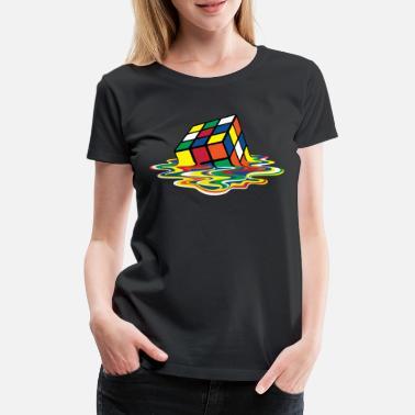 Rubik's Cube Melting Cube - Women's Premium T-Shirt