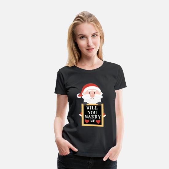 Love T-Shirts - Will you marry me? - Women's Premium T-Shirt black