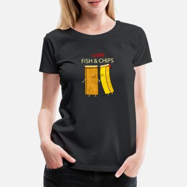 Fish & Chips fish and chips - Women's Premium T-Shirt
