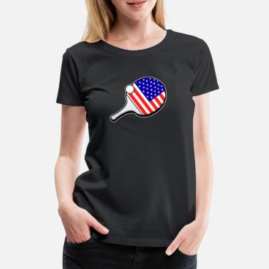 Funny Tennis Table Tennis USA America US racket gift - Women's Premium T-Shirt