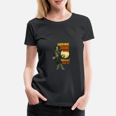 Warning zombie - Women's Premium T-Shirt