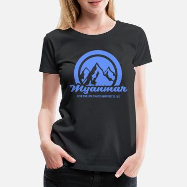 Landside Myanmar Asia country mountains - Women's Premium T-Shirt